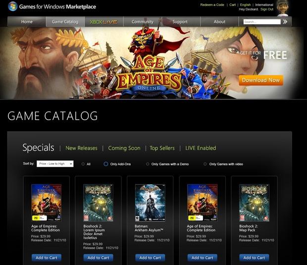 Games for Windows, Microsoft annuncia un rilancio per il 15 Novembre