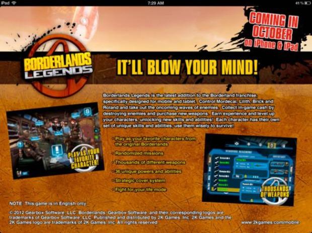 Borderlands Legends: titolo iOS rivelato da una pubblicità