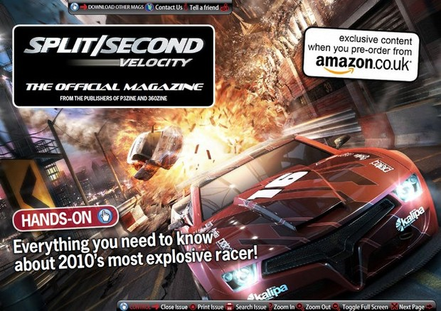 Split/Second: Velocity ha un magazine online ufficiale
