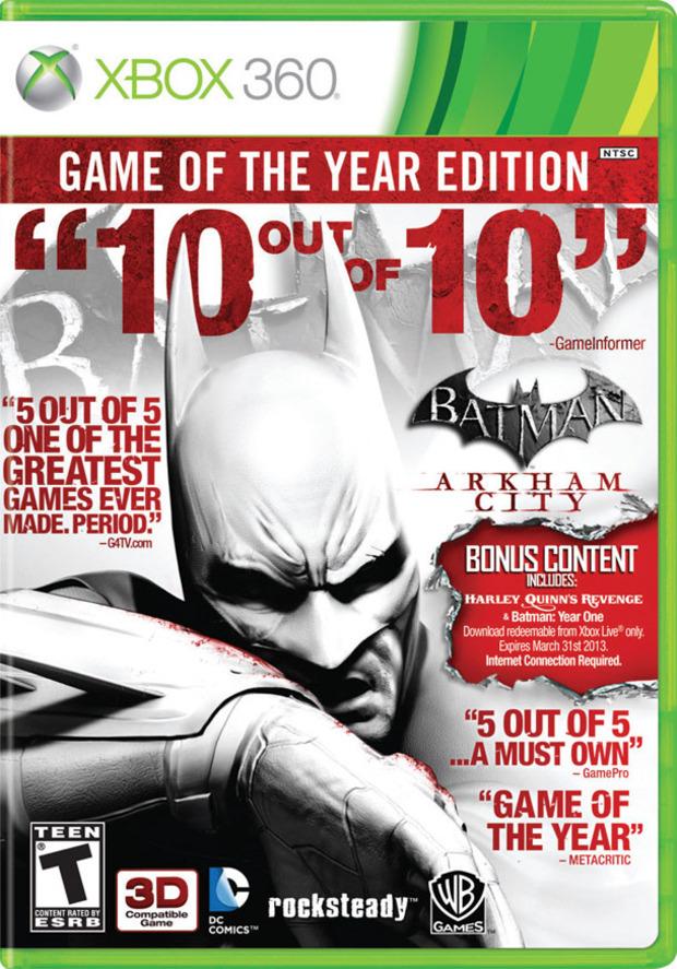 Arkham City, una curiosa boxart per la GOTY