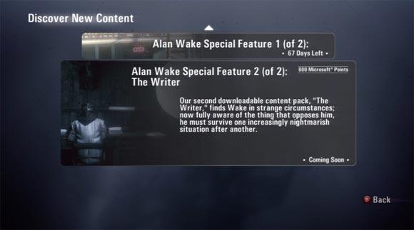 Alan Wake, rivelato il secondo DLC 'The Writer'