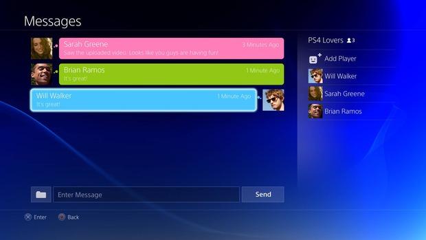 PS4: nuove foto dell'interfaccia utente