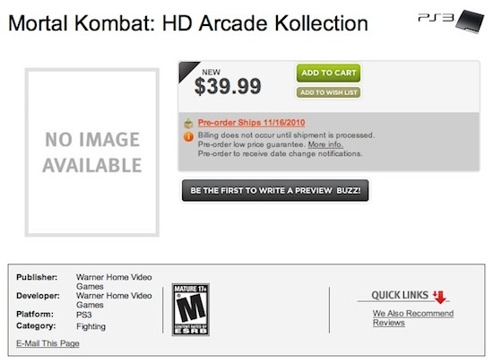 In arrivo una raccolta dei vecchi Mortal Kombat?