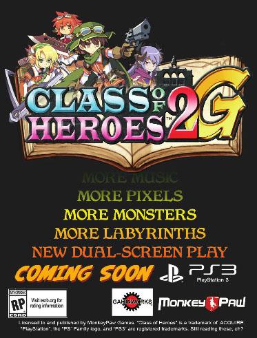Class of Heroes 2G in arrivo negli Stati Uniti