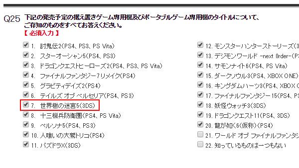 Etrian Odyssey V per Nintendo 3DS compare in un sondaggio di Atlus