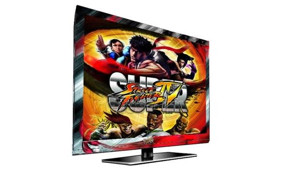 Una TV LED dedicata a Super Street Fighter IV
