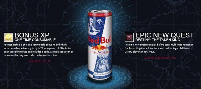 Destiny Il Re dei Corrotti: una nuova missione e punti esperienza bonus per chi beve Red Bull