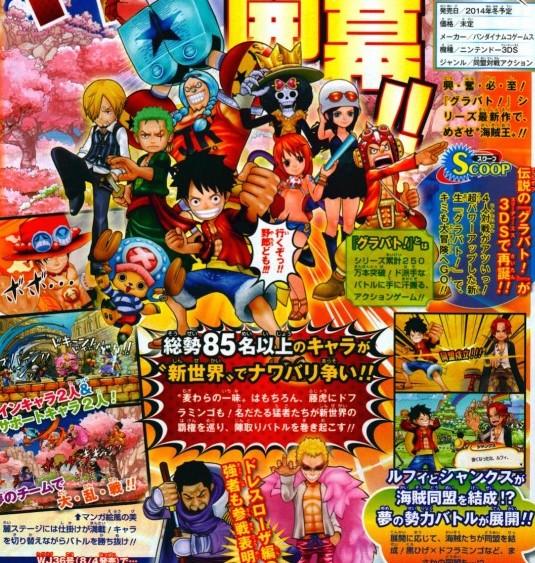 One Piece Super Grand Battle X annunciato per Nintendo 3DS
