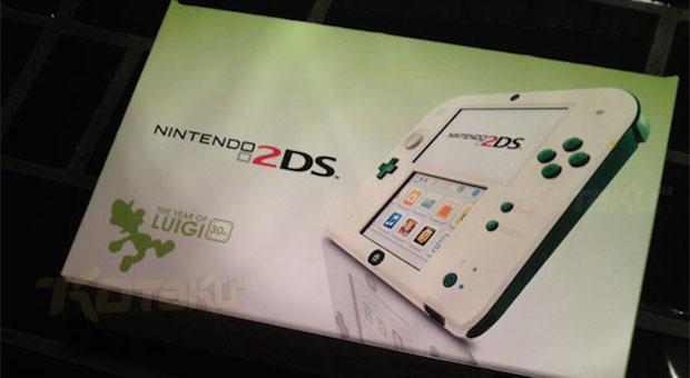Nintendo 2DS, modello speciale dedicato a Luigi