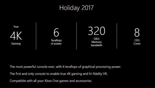 Xbox scorpio 232 l unica console con supporto per il vero 4k e vr ad