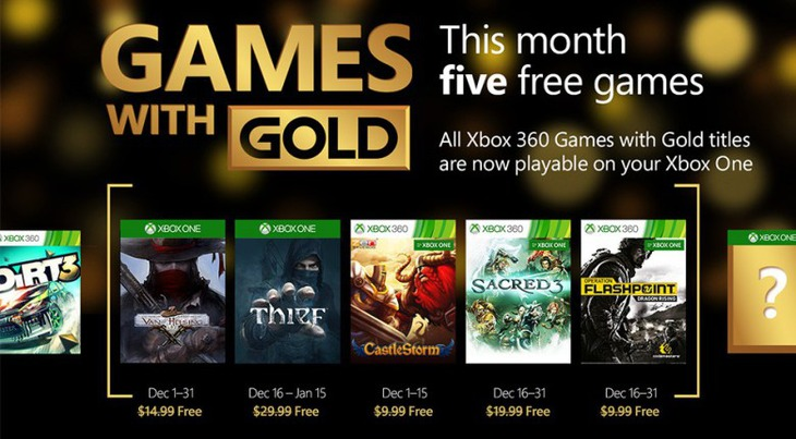 Thief e The Incredible Adventures of Van Helsing tra i Games With Gold di dicembre