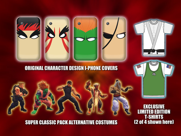 Super Street Fighter 4, Un Costume Pack per chi preordina il gioco