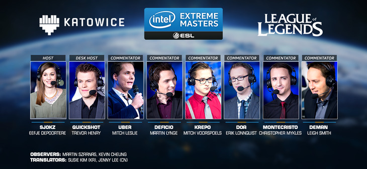 Intel Extreme Masters 2016: Conosciamo il team di conduttori del torneo di League of Legends