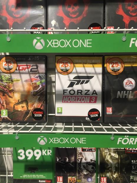 Forza Horizon 3 avvistato in un negozio svedese
