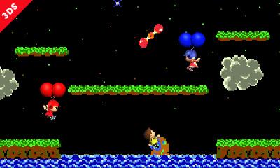 Super Smash Bros: screenshot del minigioco Baloon Fight