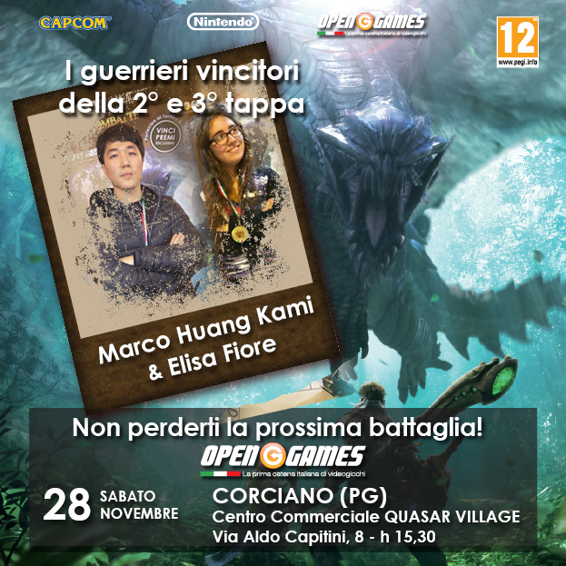 Monster Hunter 4 The Ultimate Hunt: ecco i vincitori della tappa di Firenze e Monterotondo