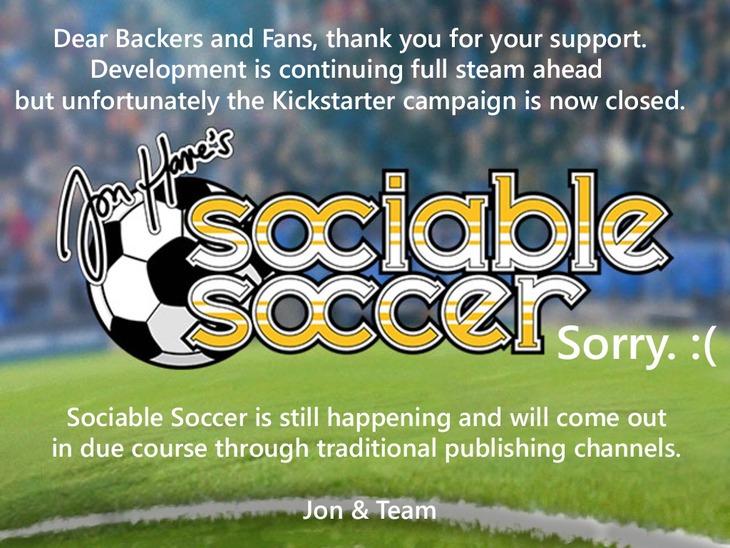 Sociable Soccer: la campagna Kickstarter è stata chiusa ma lo sviluppo del continuerà regolarmente