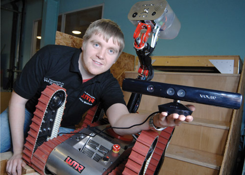 Kinect utilizzato su un robot da soccorso