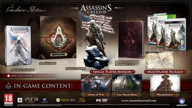 Assassin's Creed 3: annunciate le edizioni speciali