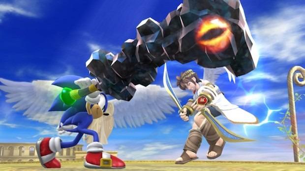 Super Smash Bros: nuovo screenshot con Sonic e Pit