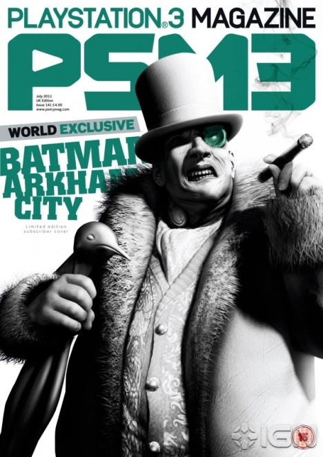 Batman Arkham City: artwork di Pinguino sulla copertina di PSM3