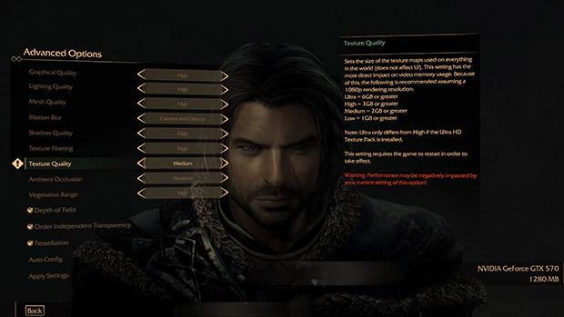 La Terra di Mezzo: L'Ombra di Mordor, ecco le opzioni grafiche per la versione PC