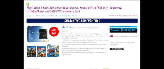 PlayStation 4: GAME apre i preordini per il bundle con PlayStation Vita