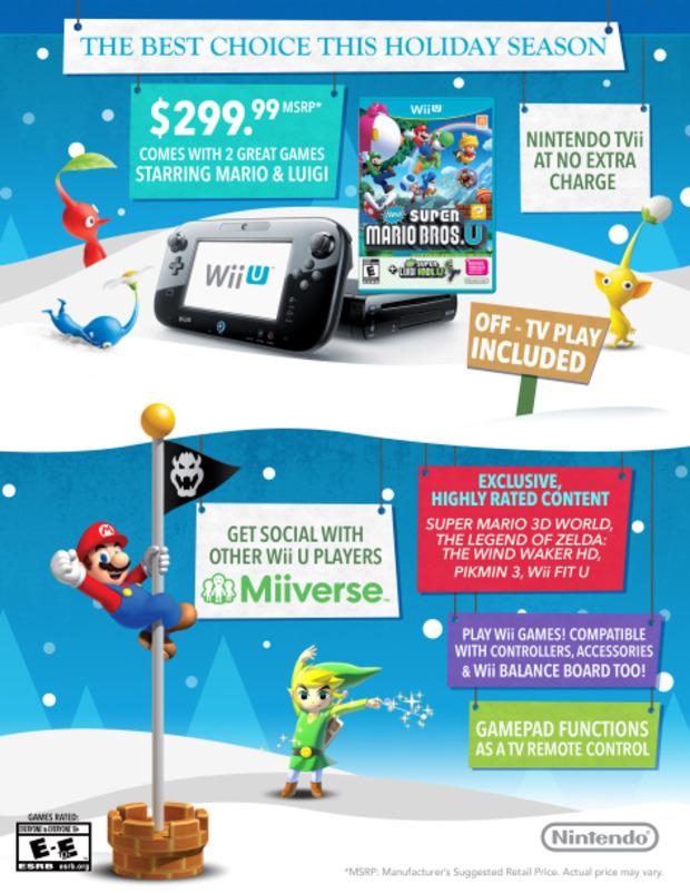 Wii U: Nintendo pubblica un'infografica sulla console per le vacanze natalizie