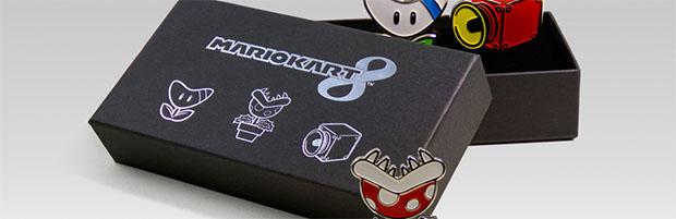Mario Kart 8: aggiunto un set di tre spille nel catalogo del Club Nintendo - Notizia