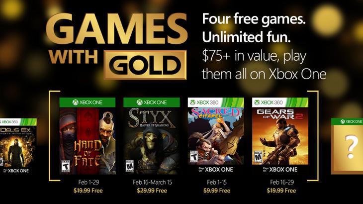 Hand of Fate, Styx e Gears of War 2 guidano i Games with Gold di febbraio