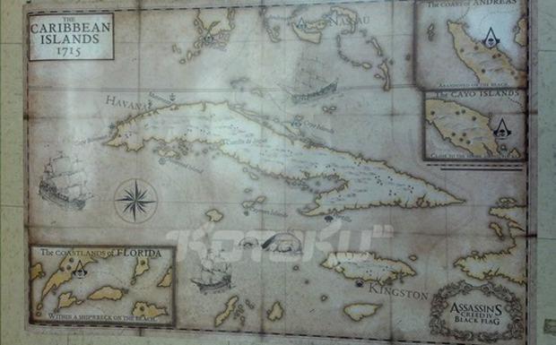 [Report] La mappa di Assassin's Creed IV: Black Flag