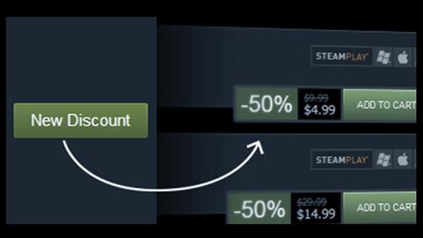 Steam: gli sviluppatori potranno programmare sconti e offerte