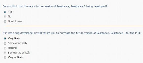 Resistance 3, Sony è interessata ai pareri dei consumatori tramite sondaggio