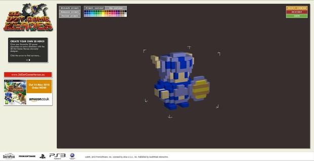 3D Dot Game Heroes, è online l'editor personaggi