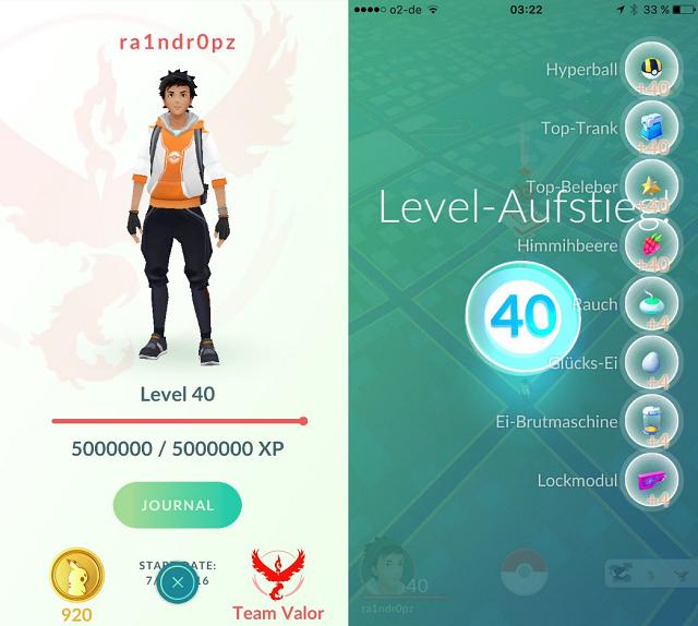 Pokemon GO: qualcuno ha raggiunto il livello massimo