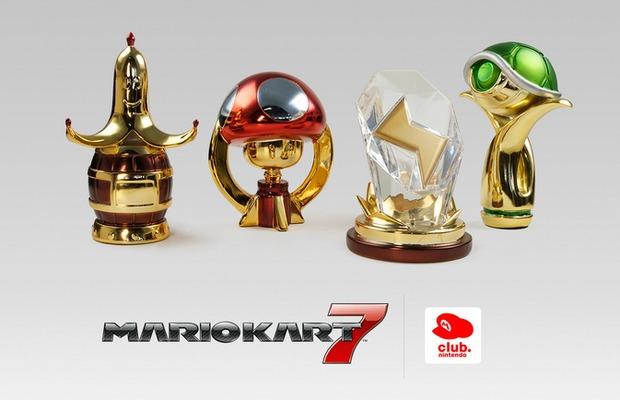 Trofei di Mario Kart 7 disponibili nello Star Catalogo europeo