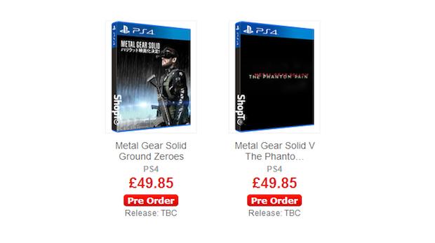 Metal Gear Solid 5 - The Phantom Pain e Ground Zeroes saranno venduti separatamente?