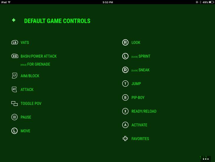 Fallout 4: svelato lo schema dei controlli su Xbox One
