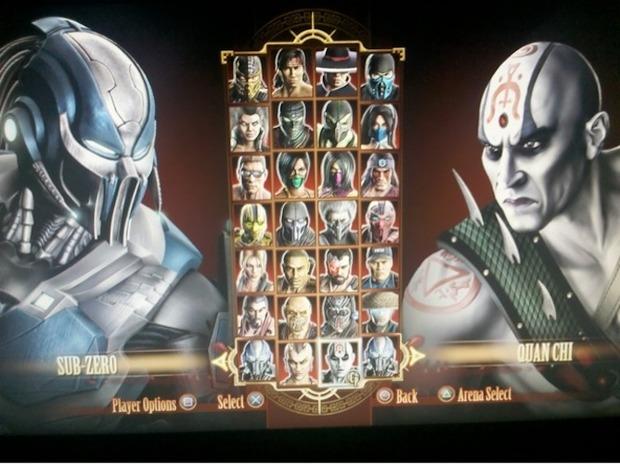 Mortal Kombat: trapelata la schermata selezione personaggi