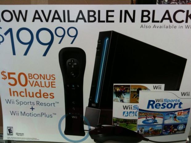 Il volantino americano della Wii Black Edition