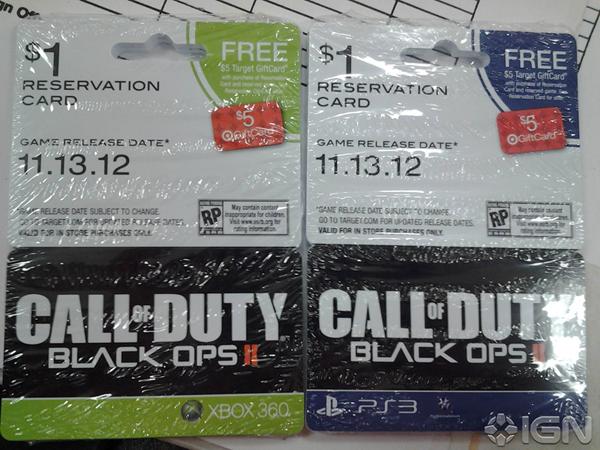 Call of Duty: Black Ops II confermato da alcune reservation card. Uscirà il 13 Novembre