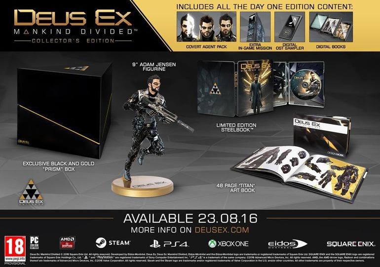 Deus Ex Mankind Divided: Tutti i dettagli sulle edizioni da collezione