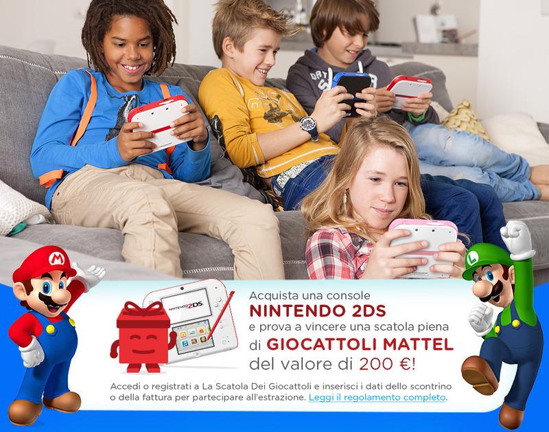 Vinci la Scatola dei Giocattoli Mattel con Nintendo 2DS