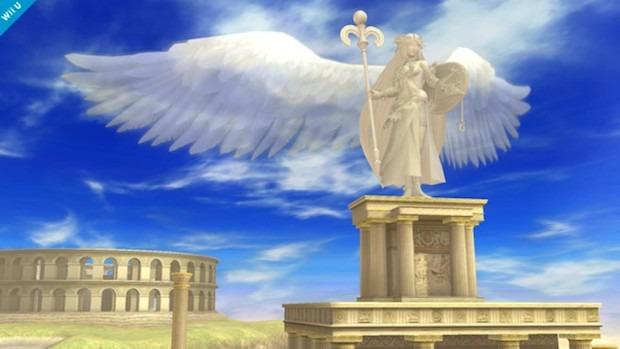 Super Smash Bros: screenshot dello stage di Kid Icarus