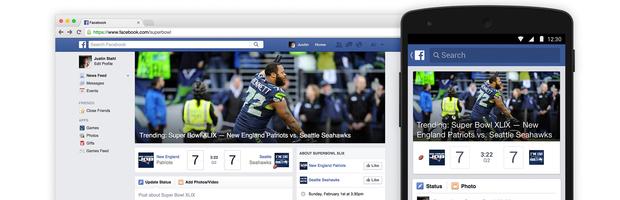 Facebook lancia l'hub per il Super Bowl - Notizia
