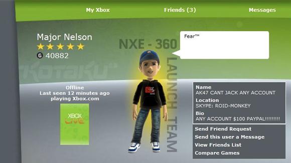 Xbox Live, crackata la Gamecard di Major Nelson