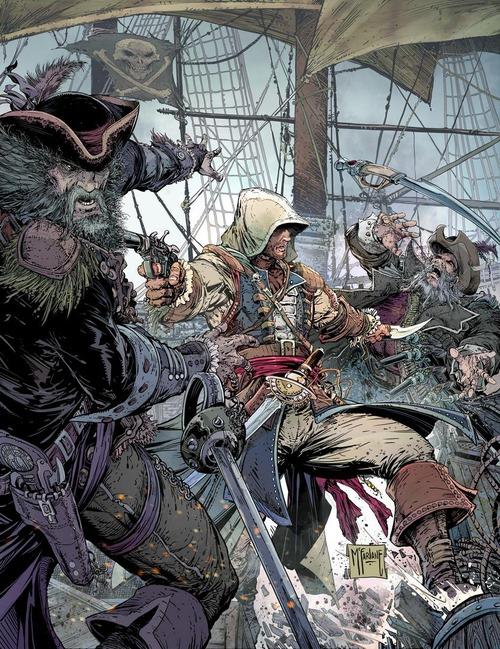Assassin's Creed IV: Black Flag - il poster di Todd McFarlane