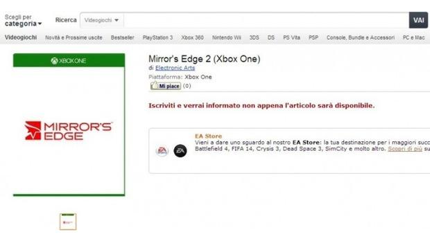 Mirror's Edge 2 compare su Amazon Italia per Xbox One