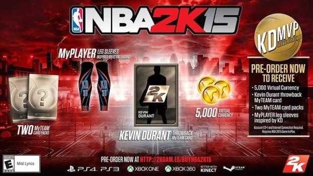 NBA 2K15: annunciati i bonus preordine