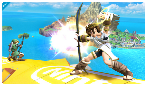 Super Smash Bros: nuovo screenshot con Link e Pit